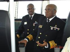 Visit of Vice Admiral Ola Sa'ad Ibrahim, Chief of the Naval Staff of the Nigeria Navy and staff onboard the Westport GRC43m Composite Patrol Vessel Series in Newport, Rhode Island, USA.